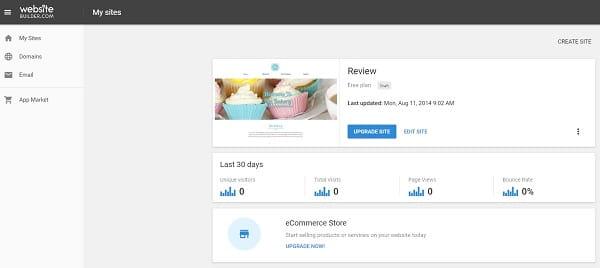 Websitebuilder-com Dashboard