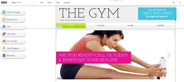 Gym Website Built With Wix