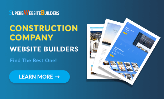 Best Website Builders for Construction Company