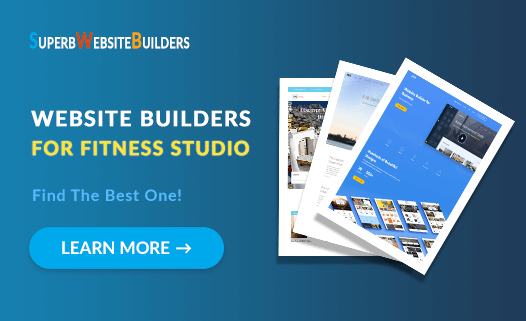best website builders for fitness studio