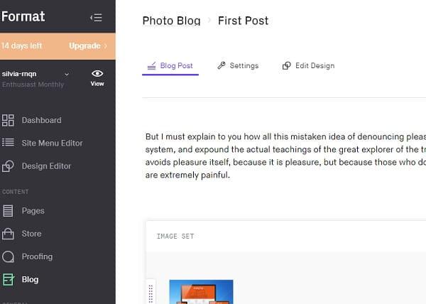 Format Blog Editor