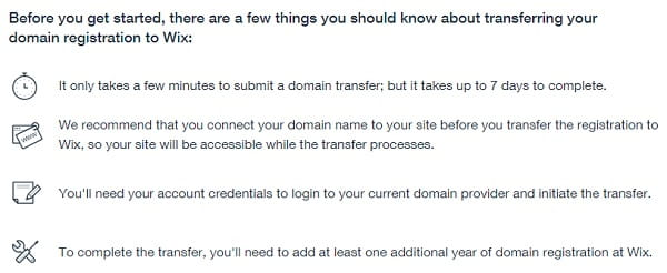 Step 1 - General transfer domain information