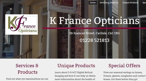 k-france - screenshot of a website