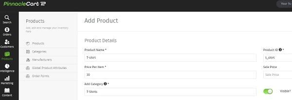 PinnacleCart Products