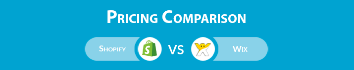 Shopify vs Wix: Pricing