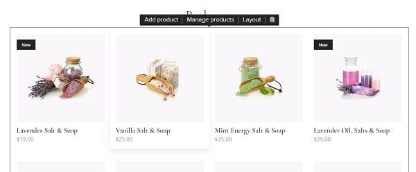 Webnode eCommerce Page