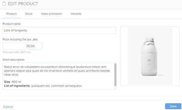 Webnode eCommerce