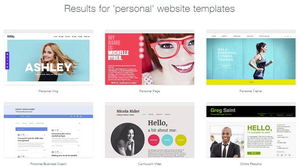 Wix personal website templates