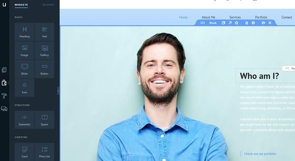 uKit personal website editor