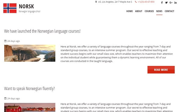 uKit Blog Page Example