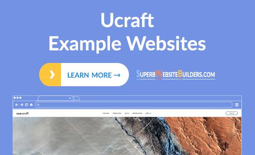 ucraft example websites
