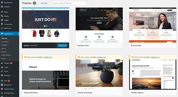 WordPress 5.0 Themes