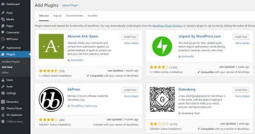 WordPress Plugins Setup