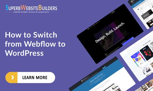 switching from webflow to wordpress