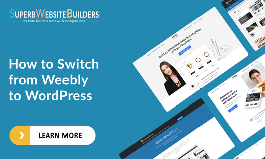 how to switch from weebly to wordpress