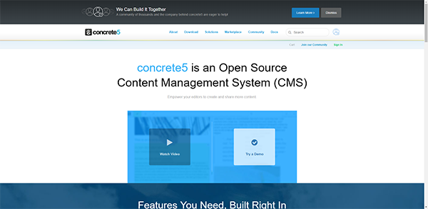 Concrete5 - Open Source Content Management System (CMS)