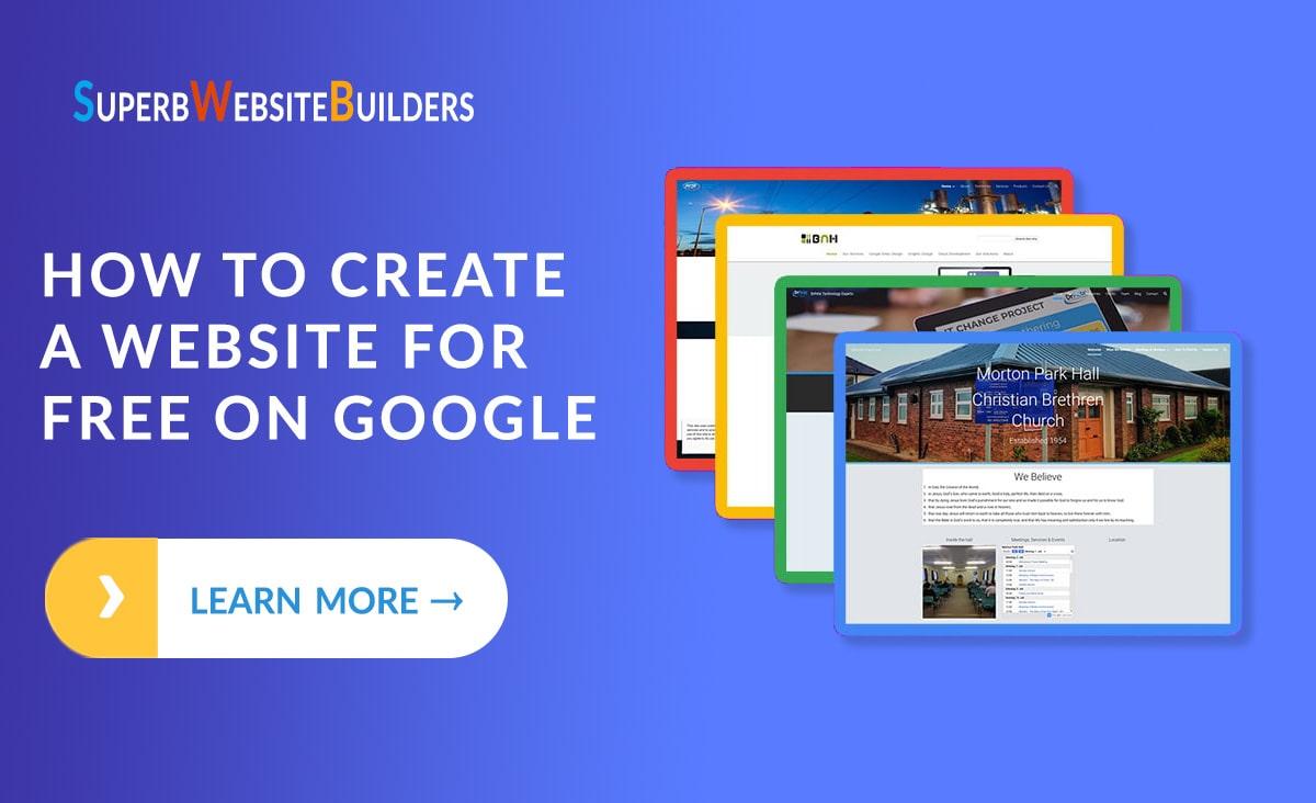 free website create in google site