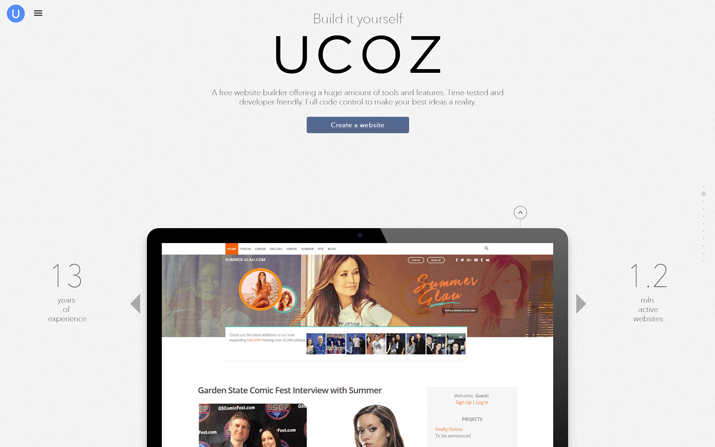 uCoz: Free Website Builder