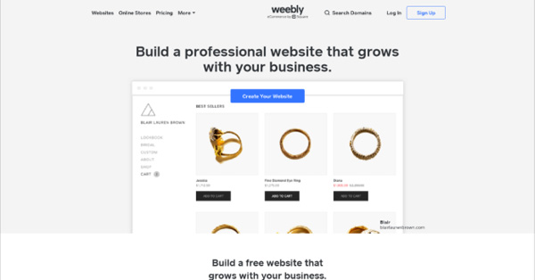Weebly - Great Solution to Create a Portfolio Website