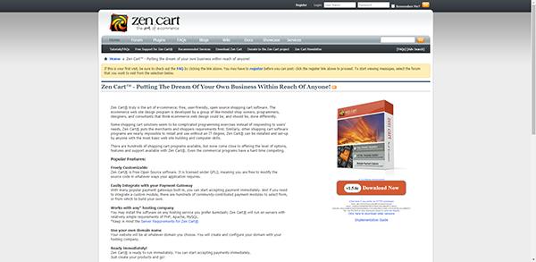 Zen Cart - Free and User-friendly Shopping Cart Software