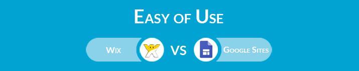 Wix vs Google Sites: Easy Of Use