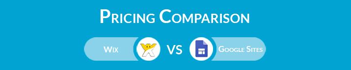 Wix vs Google Sites: Pricing Comparison