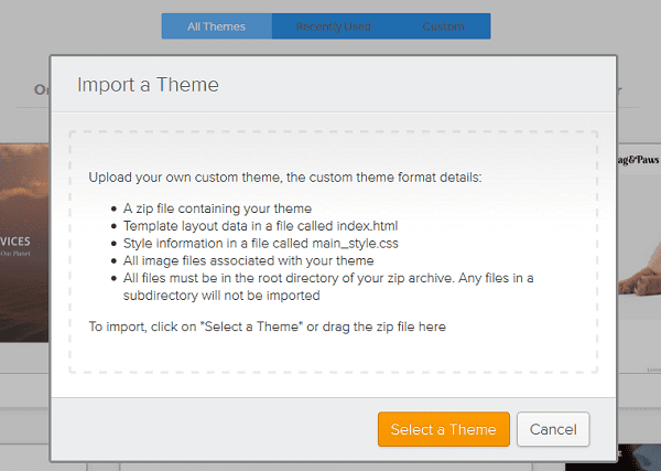 Weebly Import Theme