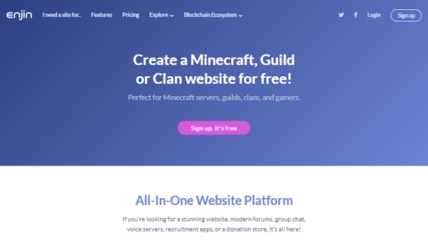 free guild website hosting no ads