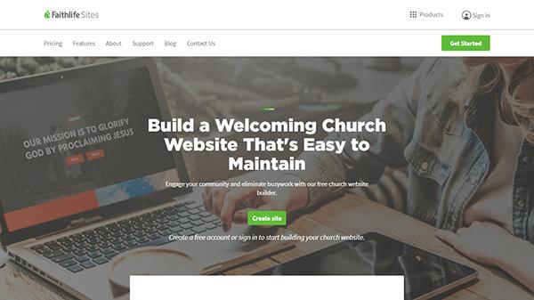 FaithLife Sites - Platform to Create a Church Website