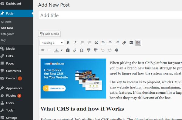 WordPress visual editor