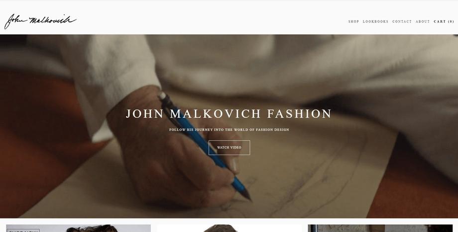 John Malkovich Fashion