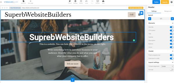 Sitebuilder editor