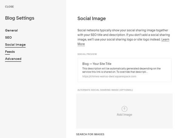 Squarespace Blog Settings