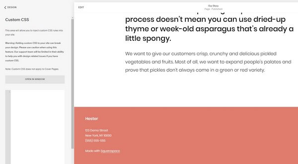 Squarespace access to HTML/CSS
