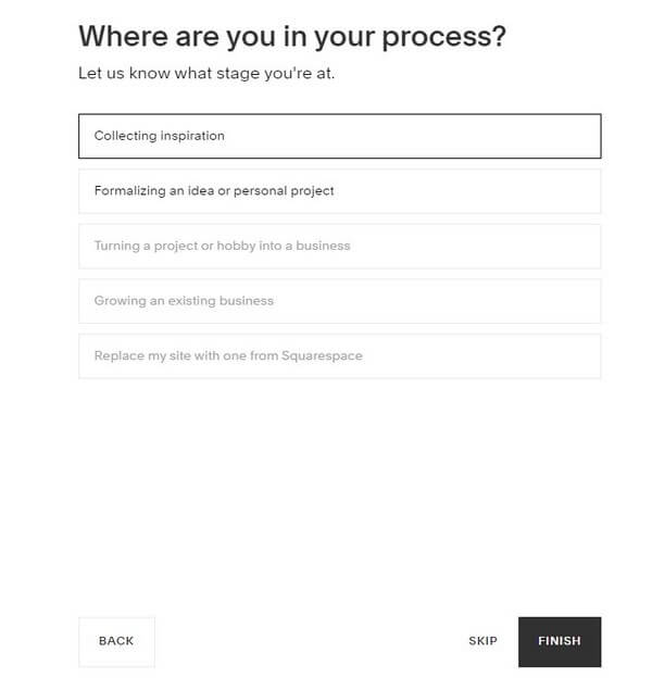 Squarespace: Step 2