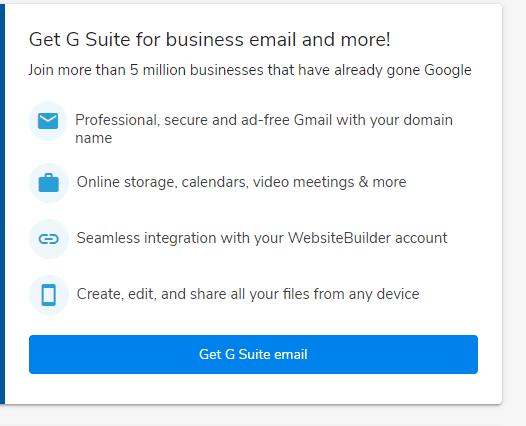 WebsiteBuilder GSuite