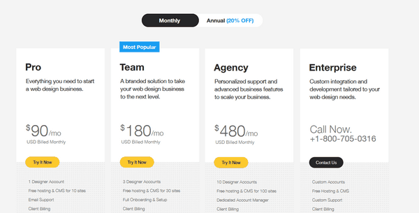 Webydo pricing