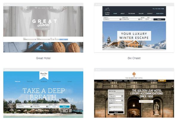 Wix hotel website