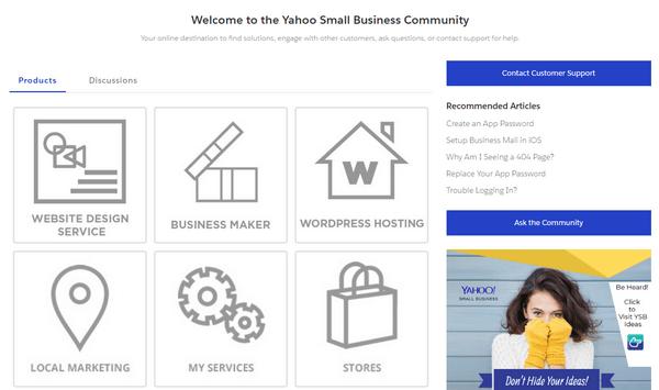 Yahoo Website Builder Help Center