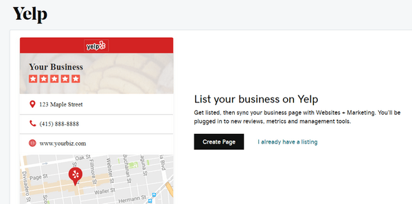 Yelp Business Listing