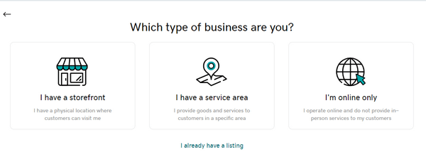 specify the type of business