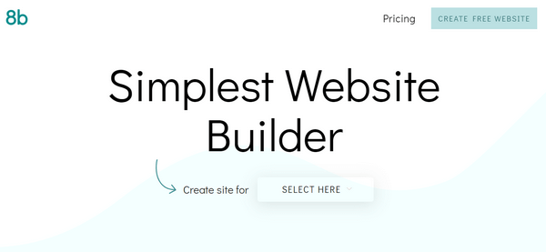 8b - Easy-to-Use and 100% Free Website Builder