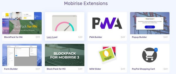 Mobirise Extensions