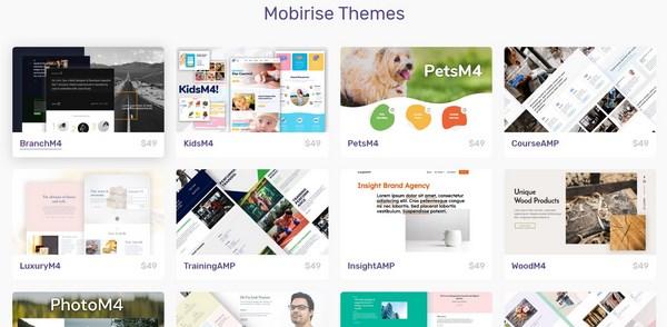 Mobirise themes