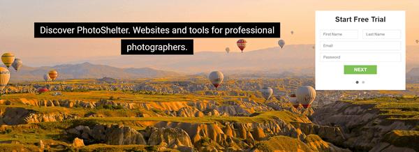 PhotoShelter registration
