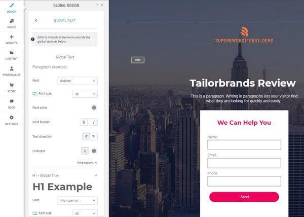 Tailor Brands Design Edit