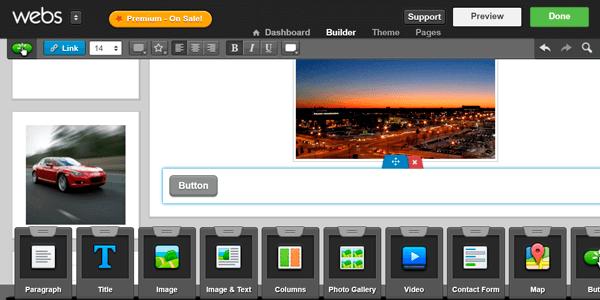 Webs Edit Button