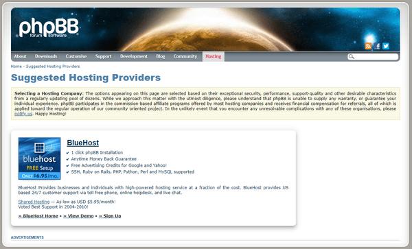phpBB-hosting