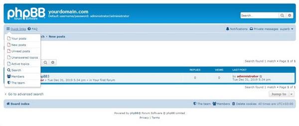 phpBB manage forum