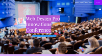 Web Design Pro Innovations Conference - Wix event website example